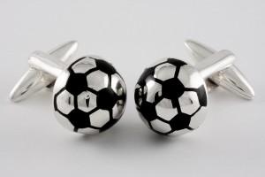 8 ZAUNICK Sterling Silver FIFA Soccer Ball Cufflinks